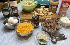 Ingredients for this Breakfast Casserole