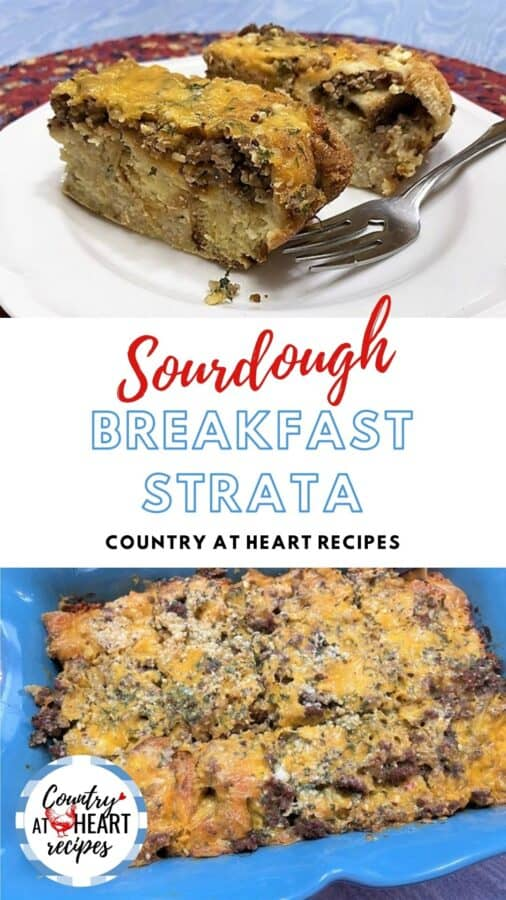 Pinterest Pin - Sourdough Breakfast Strata