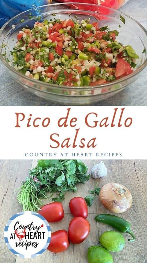 Pinterest Pin - Pico de Gallo Salsa